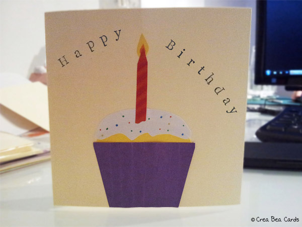 crea bea cards, birthday cupcake instructions
