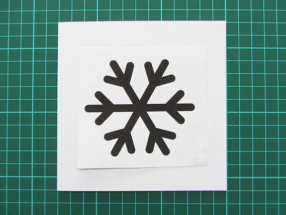 Crea Bea Cards, Christmas, Snowflake, Tutorial, Step 1