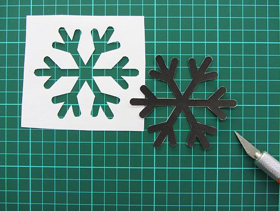 Crea Bea Cards, Christmas, Snowflake, Tutorial, Step 2