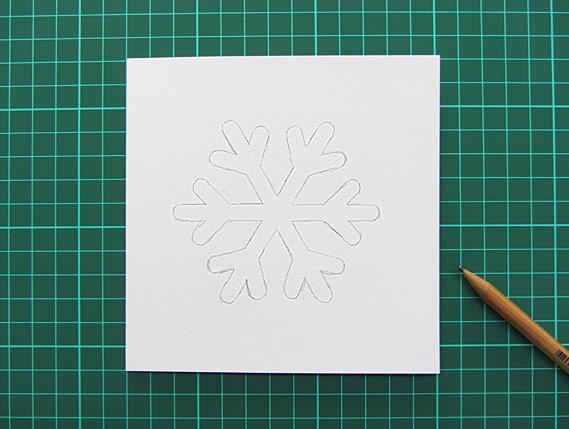 Crea Bea Cards, Christmas, Snowflake, Tutorial, Step 3