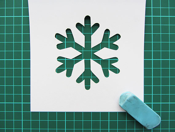 Crea Bea Cards, Christmas, Snowflake, Tutorial, Step 4