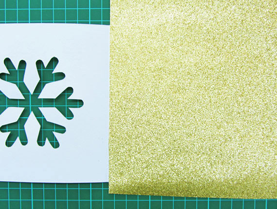 Crea Bea Cards, Christmas, Snowflake, Tutorial, Step 5