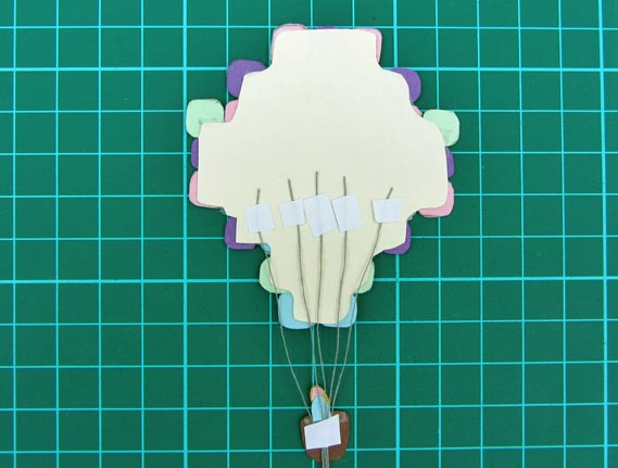 air balloon, card, step 9