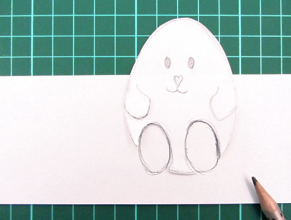 easter, bunny, egg, card, step 10