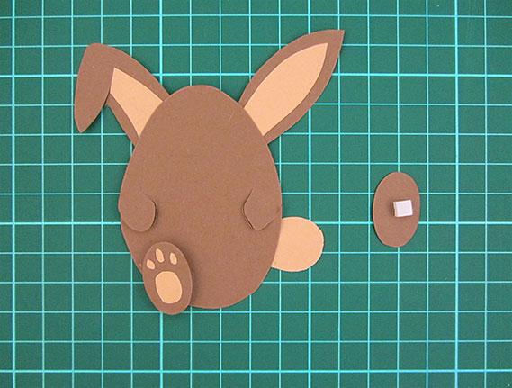 easter, bunny, egg, card, step 13