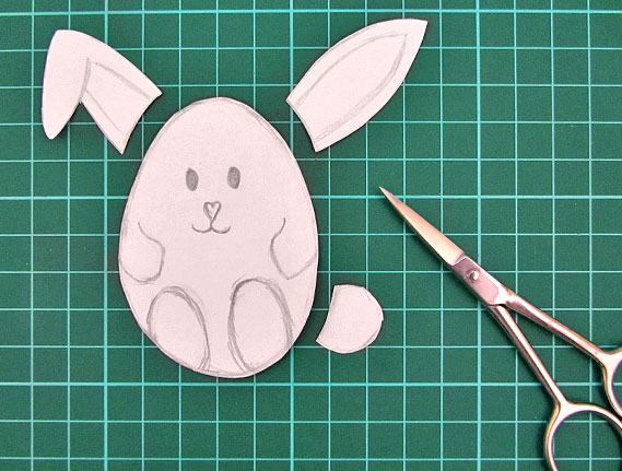 easter, bunny, egg, card, step 3