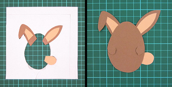 easter, bunny, egg, card, step 9