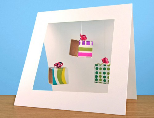 3D Gift boxes card
