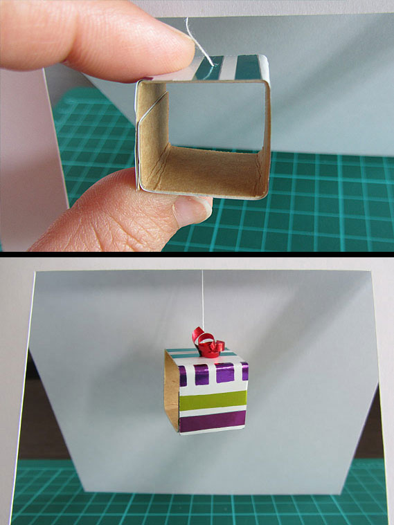 3D, gift, boxes, card, step 12