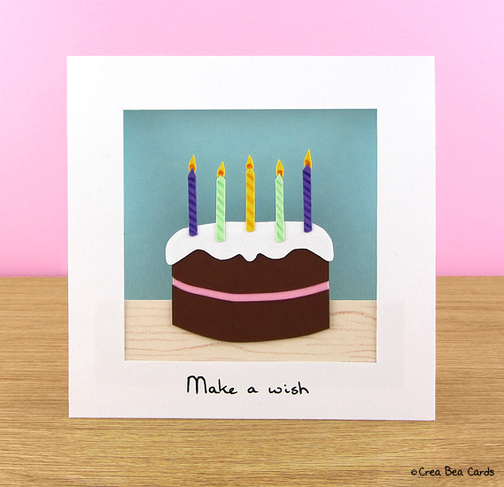 Craft A Chocolicious Birthday Cake Card Crea Bea Cards