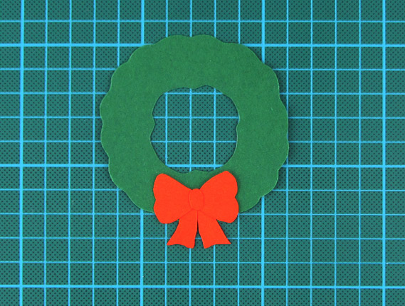 christmas, wreath, card, step 6