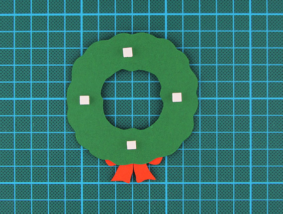 christmas, wreath, card, step 9