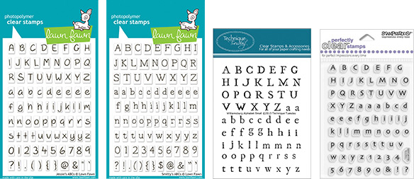 Tiny Alphabet Perfectly Clear Stamp Set Whats