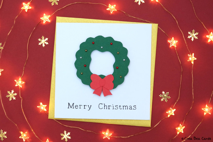 handmade card of Christmas wreath card tutorial