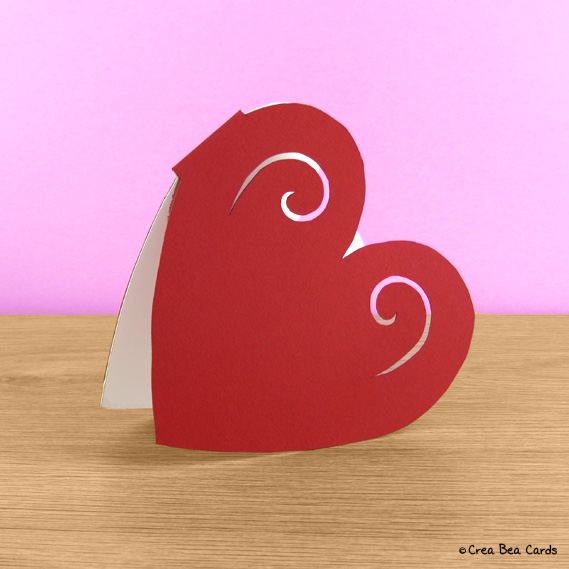 craft a heart-shaped card