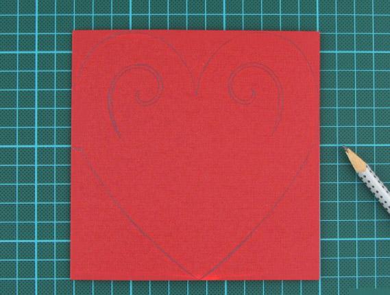 heart, shaped, card, step 4