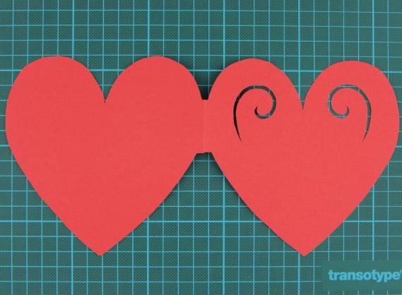 heart, shaped, card, step 5