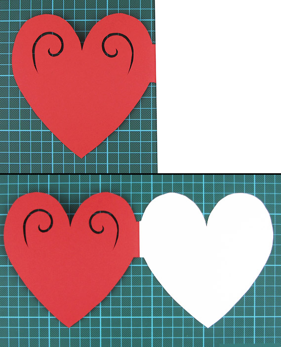 heart, shaped, card, step 6