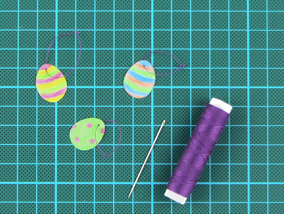 easter, egg, tree, card, step 11