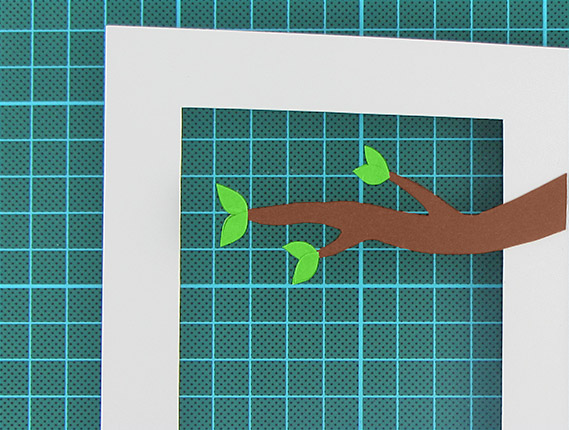 easter, egg, tree, card, step 7