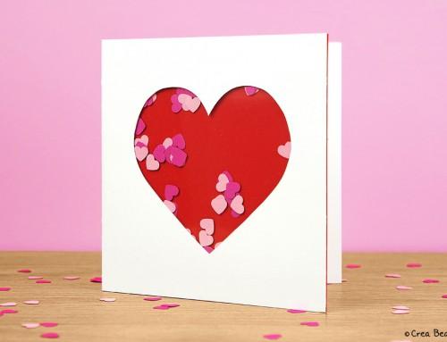 Heart shaker card