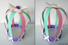 Spring paper crown
