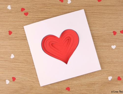 Simple papercut heart card
