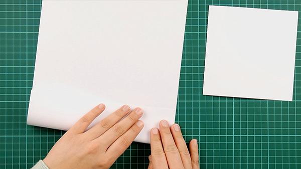 simple, papercut, heart, card, tutorial, step 1