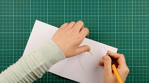 simple, papercut, heart, card, tutorial, step 10