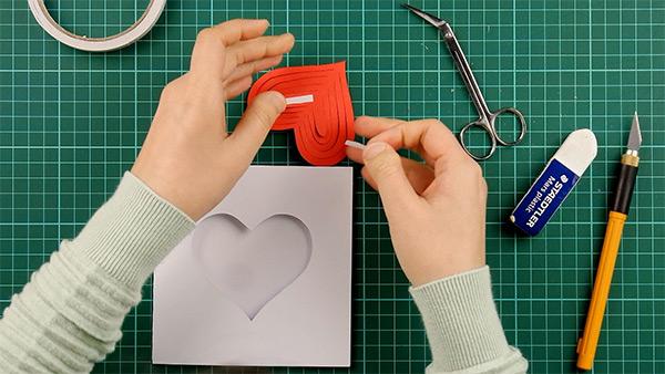 simple, papercut, heart, card, tutorial, step 11