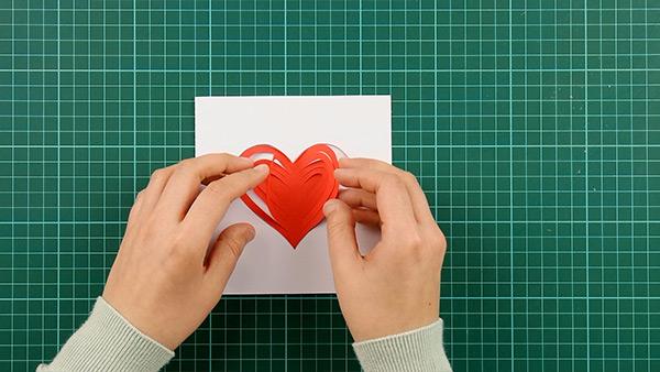 simple, papercut, heart, card, tutorial, step 12