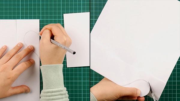 simple, papercut, heart, card, tutorial, step 2