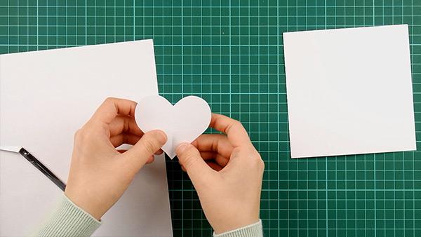 simple, papercut, heart, card, tutorial, step 3