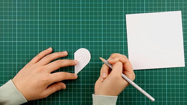 simple, papercut, heart, card, tutorial, step 4