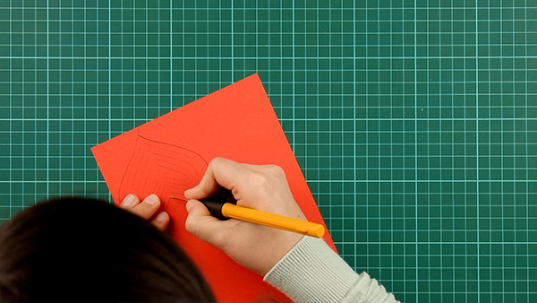 simple, papercut, heart, card, tutorial, step 7