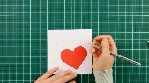simple, papercut, heart, card, tutorial, step 8