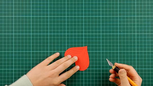 simple, papercut, heart, card, tutorial, step 9