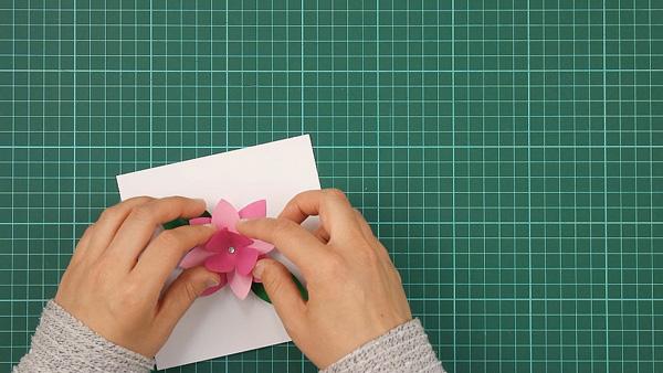 flower, floral, flowerish, nature, card, tutorial, step 11