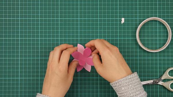 flower, floral, flowerish, nature, card, tutorial, step 5