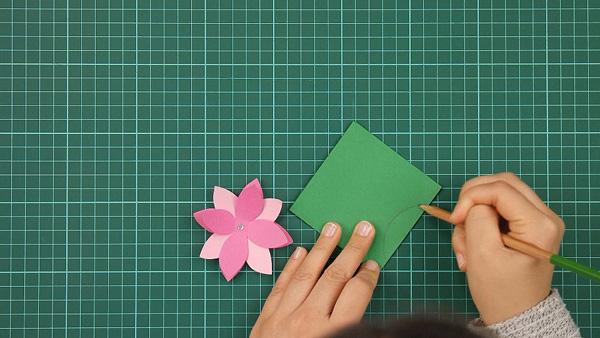 flower, floral, flowerish, nature, card, tutorial, step 8