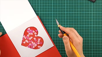 heart, shaker, card, making, tutorial, step 13