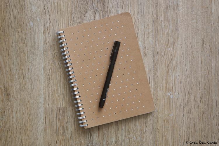 sketchbook with fineliner