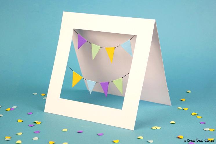 handmade card from happy birthday garlands card tutorial