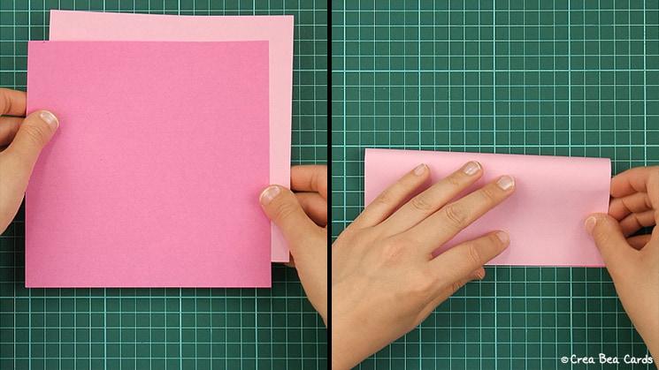 flower card, tutorial, card making, step 1