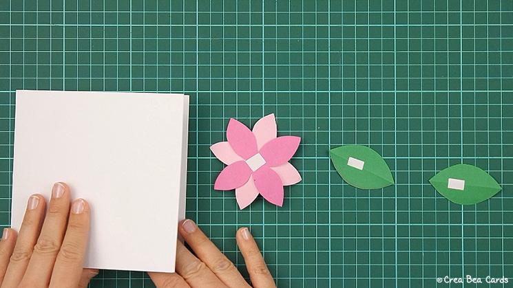 flower card, tutorial, card making, step 10