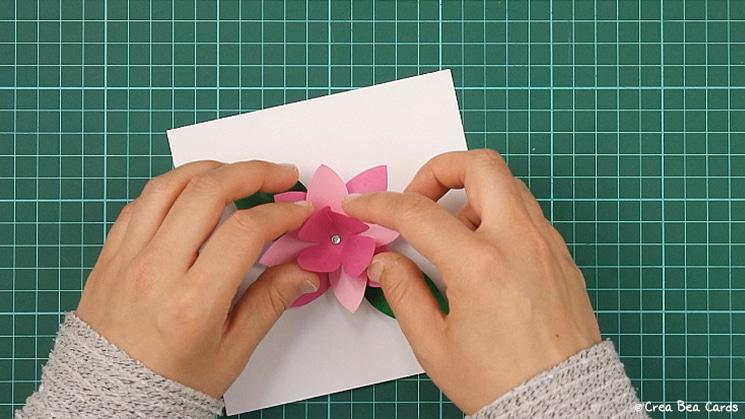 flower card, tutorial, card making, step 11