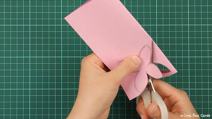 flower card, tutorial, card making, step 3