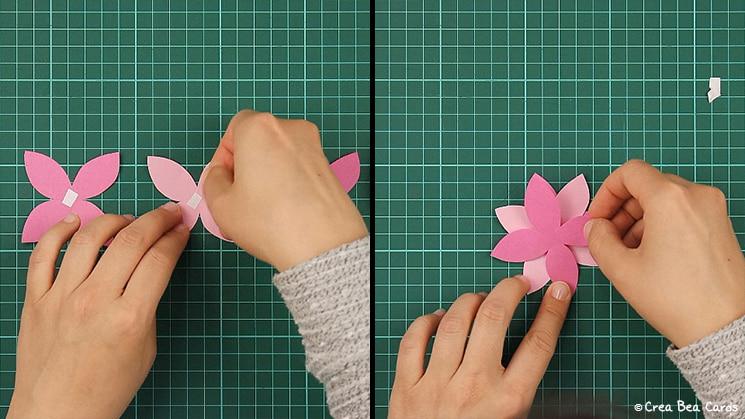 flower card, tutorial, card making, step 4