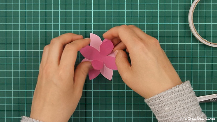 flower card, tutorial, card making, step 5