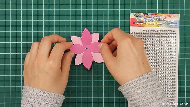 flower card, tutorial, card making, step 6